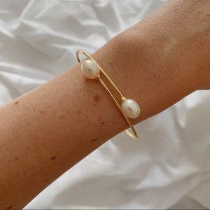 Dainty Pearl Bracelet | 14k Gold Plated